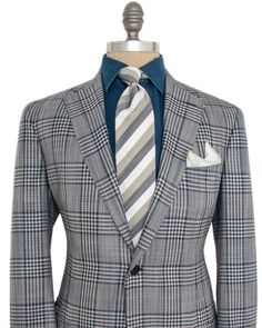 Luciano Barbera Blue Plaid Sportcoat