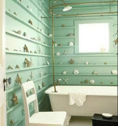Дизайн ванной комнатыв морском стиле