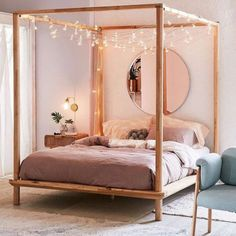 Shop Eva Wooden Canopy Bed at Urban Outfitters today. We carry all the latest st… Advertisements Shop Eva Wooden Canopy Bed at Urban Outfitters today. We carry all the latest styles, colors and brands for you to choose from right… Continue Reading → Dream Rooms, Dream Bedroom, Girls Bedroom, Guest Bedrooms, Master Bedrooms, Master Room, Master Suite, Farmhouse Bedroom Decor, Cozy Bedroom