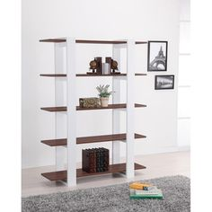 $185.99 Haven 5-tier Display Bookshelf | Overstock.com     62.4 inches high x 47.3 inches wide x 13.9 inches deep