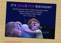 Items similar to Disney Frozen Birthday Party Invitation, Anna and Elsa as Kids - Birthday Party Invites Supplies on Etsy