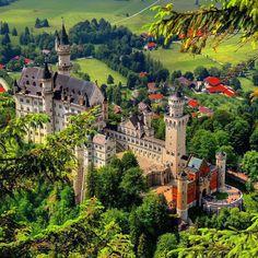 ***Neuschwanstein Castle (Germany) // Schloss Neuschwanstein (Deutschland) //Нойшванштайн Замок (Германия) by vpruntsev ( c. Places Around The World, Around The Worlds, Wonderful Places, Beautiful Places, Germany Castles, Neuschwanstein Castle, Fairytale Castle, Voyage Europe, Beautiful Castles