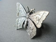 Silver Butterfly Ring... Victorian. $12.00, via Etsy.