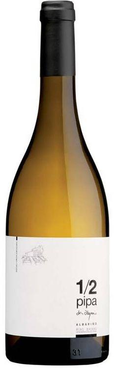 Botella 1/2 Pipa de Bodegas Don Olegario (Cambados, Pontevedra). Denominación de Origen Rías Baixas