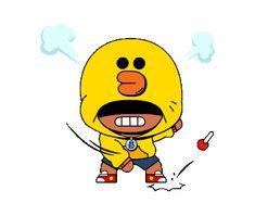 BRAWL STARS × LINE FRIENDS Friends Gif, Line Friends, Star Gif, Star Emoji, Star Character, Star Wallpaper, Free Gems, Star Work, Line Sticker