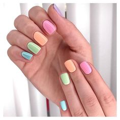 Neon Toe Nails, Aycrlic Nails, Pastel Nails, Hair And Nails, Sassy Nails, Cute Nails, Stylish Nails, Trendy Nails, Multicolored Nails