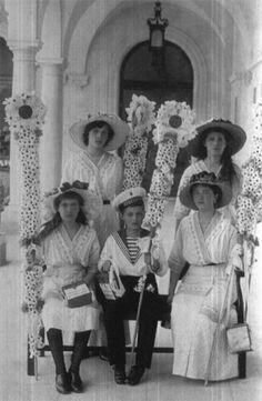 The Imperial Children in Livadia....