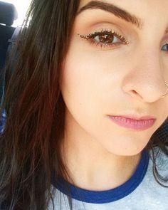 Speckled eyeliner inspired by @jkissamakeup #eyeliner #speckledeyeliner #limecrime #makeup #katvondbeauty