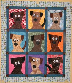 """""""Dog Daze""""  A free printable pattern from the sweet folks at Fons & Porter."""