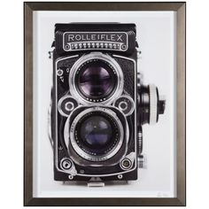 Retro Camera 3 - Limited Edition ($250) ❤ liked on Polyvore featuring home, home decor, wall art, art, art by type, framed art, framed wall art, retro wall art, black framed wall art and grey home decor