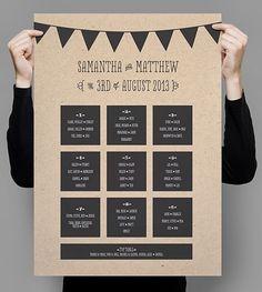 Asignar los asientos de una boda o celebración_ cartel