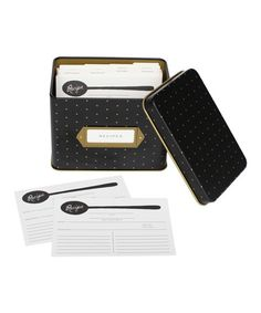 Look what I found on #zulily! Polka Dot Recipe Box #zulilyfinds