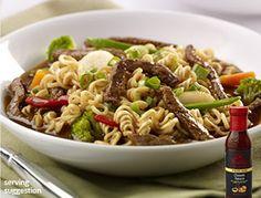 Ramen Beef and Vegetable Stir-Fry