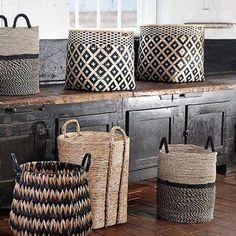 55 Modern Scandinavian Interior Designs and Ideas Gorgeous Scandinavian storage baskets Modern Scandinavian Interior, Home And Deco, Storage Baskets, Rattan, Wicker, Seagrass Baskets, Woven Baskets, Interior Inspiration, Interior Design