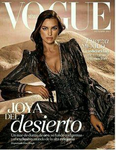 Vogue Cover Irina Shayk by Jason Kibbler for Vogue Mexico, October Vogue Magazine Covers, Fashion Magazine Cover, Fashion Cover, V Magazine, Vogue Covers, Irina Shayk, Top Models, Sports Illustrated, Vanity Fair