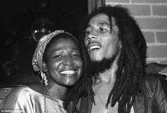 Bob Marley and his wife Rita Marley