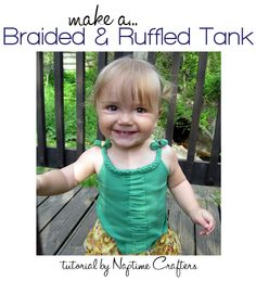 Cute braided tank top tutorial! This would be great for women or girls! #tutorial #sewing