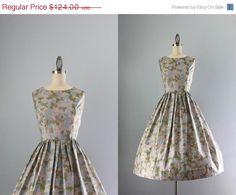 SALE 50s Dress / Vintage 1950s Sundress / L Aiglon by HolliePoint, $99.20