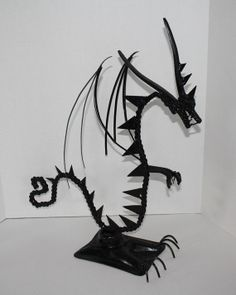 Junk Art Dragon by ReclaimArtDesigns on Etsy, $125.00