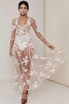 Aliexpress.com : Buy Deavogy 2016 New Classic Black Embroidered Mid Sleeves Mesh Sexy Women Evening Party Summer Long Dress Wholesale Luxury from Reliable sleeve fashion suppliers on Jenny Fashion Trading Co., Ltd.
