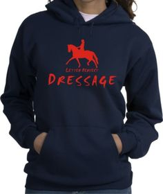 Dressage Letter Perfect Horse and Rider Navy Hoodie - Charlie Horse Apparel