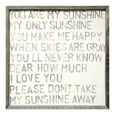 I pinned this You Are My Sunshine Art Print from the Sugarboo event at Joss & Main!