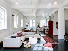 világítás   Danish Open Plan Living Room/Kitchen