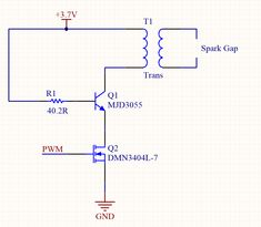 I'm trying to understand why this arc lighter circuit is designed this way. This is my understanding of this circuit: the PWM signal is duty at around That generates a square wave at the Spark Gap, Stack Exchange, Circuit Design, Ask For Help, Electrical Engineering, Im Trying, Facebook Sign Up, Lighter, This Or That Questions