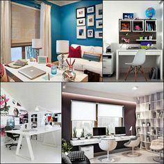 cool Modern appearance on the home office decorating ideas