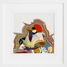 """More birds, more color! Clearly I'm a fan. """"Bird Power"""" by Carrie Marill."""