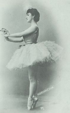 "Ballerina Mathilde Kschessinska. She was one of only 11 dancers to ever earn the rare & honored titled ""Prima Ballerina Assoluta."""