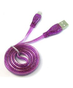 Another great find on #zulily! Purple Sparkle Charging Cable for iPhone 5/5s/5c #zulilyfinds
