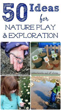 Nature Activities for kids! Outdoor play ideas, nature crafts, STEM and gardening -- how will your kids explore this year?Great Nature Activities for kids! Outdoor play ideas, nature crafts, STEM and gardening -- how will your kids explore this year? Forest School Activities, Outside Activities, Outdoor Activities For Kids, Nature Activities, Outdoor Learning, Spring Activities, Science Activities, Preschool Activities, Outdoor Play