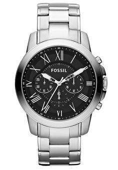 Fossil Men's Black Dial Stainless Steel - Watch FS4736,    #Fossil,    #FS4736,    #WatchesCasualQuartz
