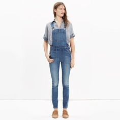 Skinny overalls in camila wash | Madewell - $148 // I want these, except they're super expensive...