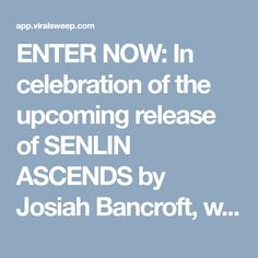 ENTER NOW: In celebration of the upcoming release of SENLIN ASCENDS by Josiah Bancroft, we created our very own tower of books—a $300 retail value!