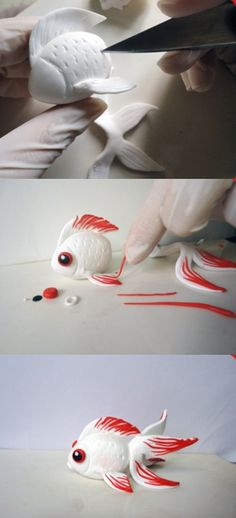 Picture tutorial on how to make goldfish