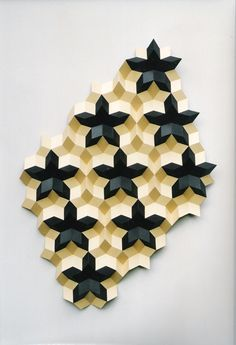 Geometric sculptures by Gerard Caris Geometric sculptures by Gerard Caris Origami Wall Art, Paper Crafts Origami, Geometric Origami, Geometric Art, Geometry Pattern, Pattern Art, Math Crafts, Arts And Crafts, Define Art