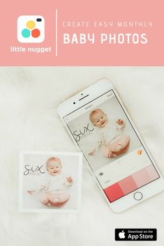 61a7a013e Create adorable monthly baby photos from your phone with Little Nugget!  Download the Little Nugget