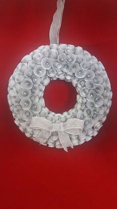 Paper Rose Wreath by ThePaperTrail1 on Etsy