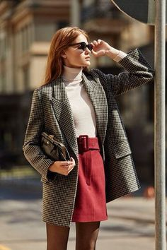 work wear - work wear The Effective Pictures We Offer You About outfits formales A quality picture can tell yo - Plaid Fashion, Look Fashion, Womens Fashion, Fashion Trends, Trendy Fashion, Elegance Fashion, Elegant Fashion Wear, Fashion Outfits, Suit Fashion
