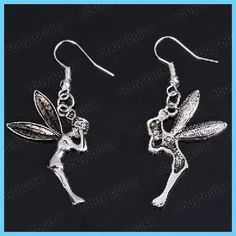 Fashion fairy distinctive silver Stylish Earrings free shipping
