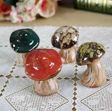 Champignon ceramique raku deco jardin fleurs mushroom turquoise ...