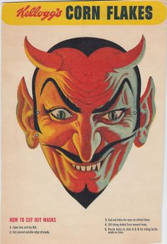 Corn Flakes Devil Mask