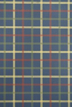 Stephen Plaid Wallpaper Dark blue plaid wallpaper with light brown, sage green and burgundy check.