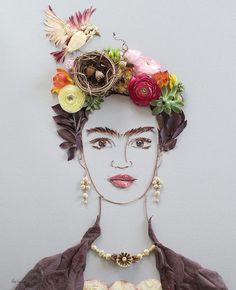 Floral illustrations de l'art par la soeur d'or avec des fleurs, des plantes et la nature.