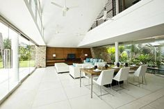 Green Architectural Features Displayed by Holiday Villa in Thailand: Aqualina Residence Sustainable Architecture, Interior Architecture, Interior And Exterior, Sun House, Fish House, Grand Kitchen, Compact House, Samui Thailand, Koh Samui