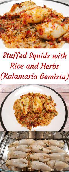 Octopus Recipes, Squid Recipes, Fish Recipes, Seafood Recipes, Dinner Recipes, Cooking Recipes, Healthy Recipes, Appetizer Recipes, Squid Dishes