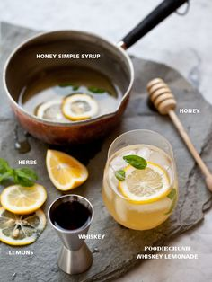 A refreshing summer cocktail with a touch of sweet thanks to a twist on the traditional simple syrup: made with honey instead of sugar and your choice of steeped herbs.