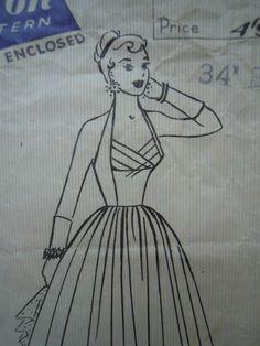 RARE Vintage 1950s Shelf Bust Halter Evening by FoxVintageUk, £39.98